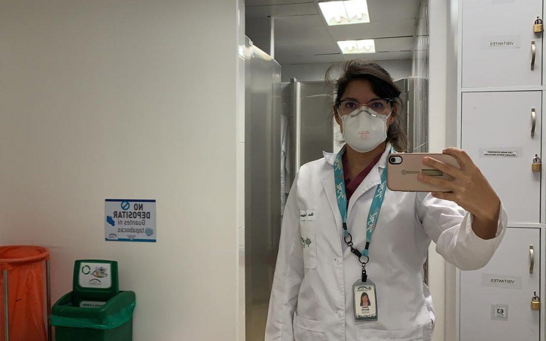 Carolina, médica venezuelana na Colômbia.