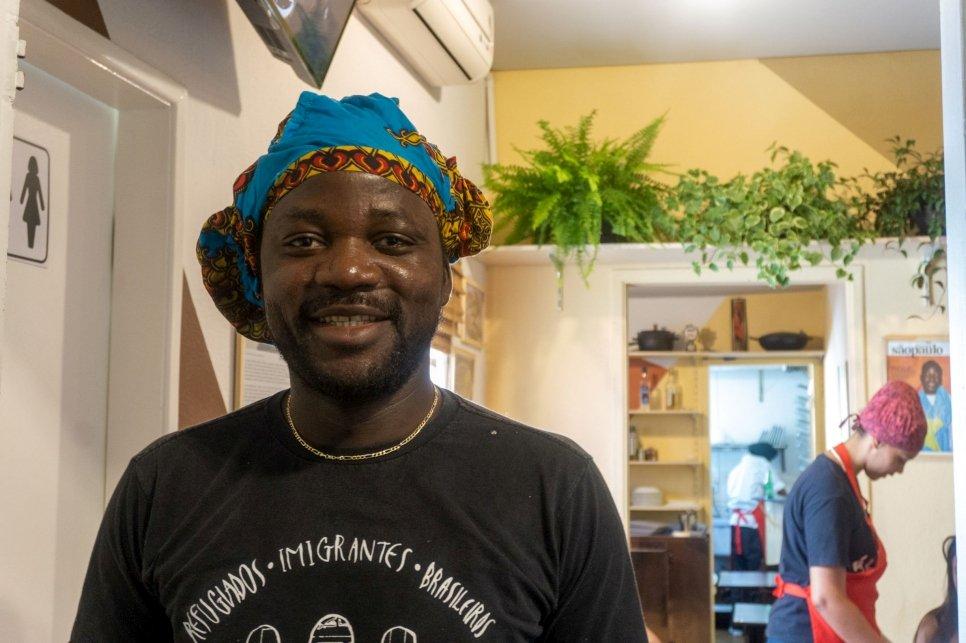 Pitchou, refugiado congolês no Brasil